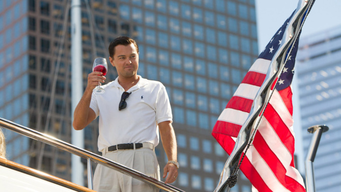 Leonardo DiCaprio plays Jordan Belfort in THE WOLF OF WALL STREET, from Paramount Pictures and Red Granite Pictures.